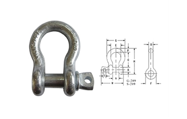 G209 US SCREW PIN ANCHOR SHACKLE
