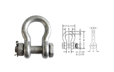 G2130 US BOLT TYPE ANCHOR SHACKLE