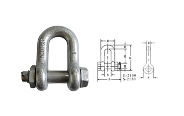 G2150 US BOLT TYPE CHAIN SHACKLE