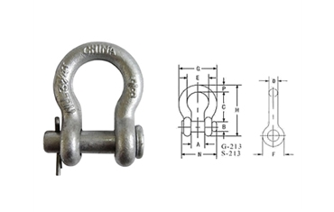 G213 US ROUND PIN ANCHOR SHACKLE