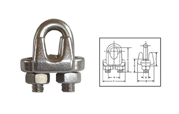 U.S. Type Drop Forged Wire Rope Clips-450D11