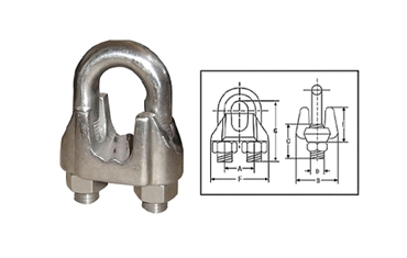 U.S. Type Galv Malleable Wire Rope Clips