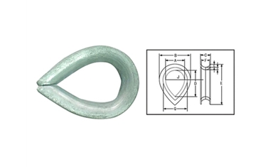 BS-464 Thimble Ordinary Thimbles For Steel Wire Rope
