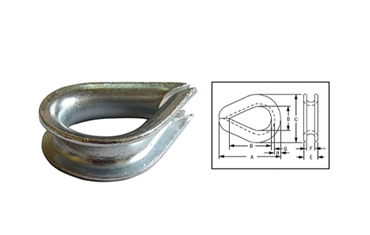 "DIN 6899 Type""A""Wire Rope Thimbles"