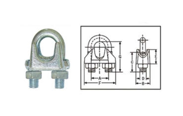 Galv Malleable Wire Rope Clips TypeA